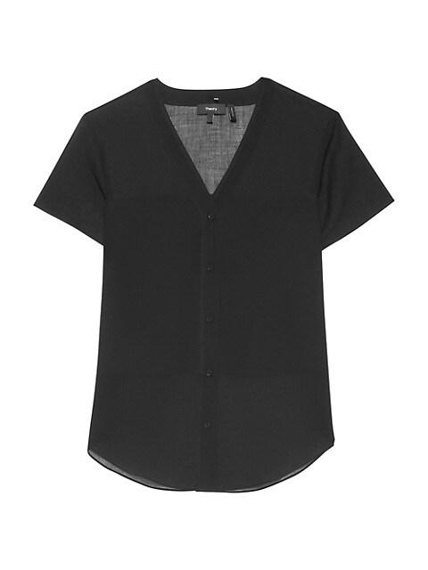 Organic Cotton Short-Sleeve Shirt