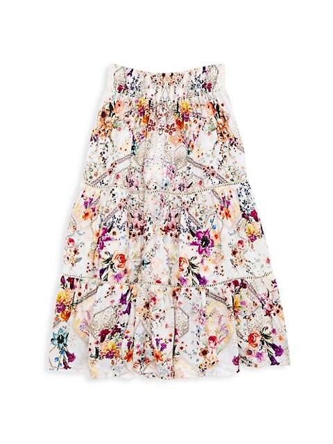 Little Girl's & Girl's Runaway Royal Maxi Skirt