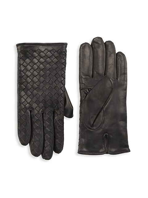 COLLECTION Woven Nappa Leather Gloves