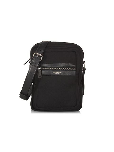 Brad Canvas & Leather Pouch Bag