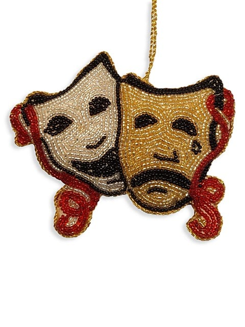 Holiday 2021 Comedy & Tragedy Masks Ornament