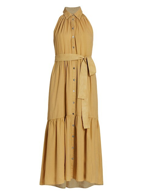Finley Tiered Belted Swing Dress