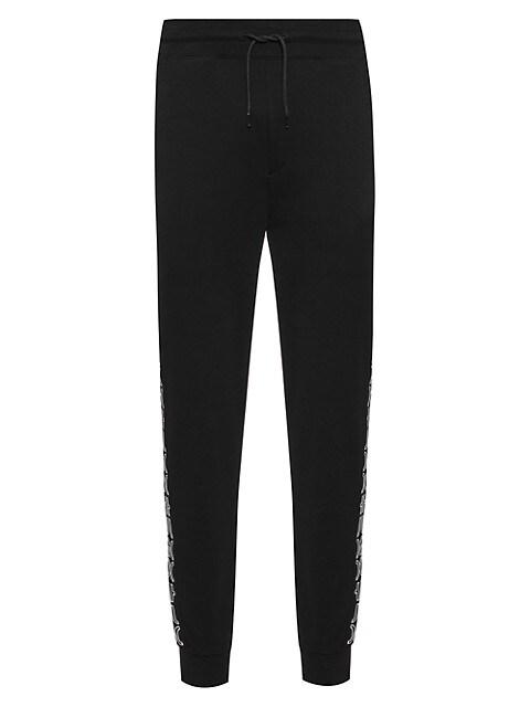 Logo Print Jersey Drawstring Sweatpants