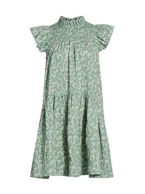 Thandi Ruffle Mockneck Mini Dress