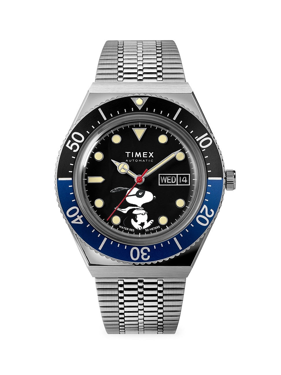 TIMEX LAB COLLAB M79 AUTOMATIC SNOOPY MASKED MARVEL 40MM WATCH