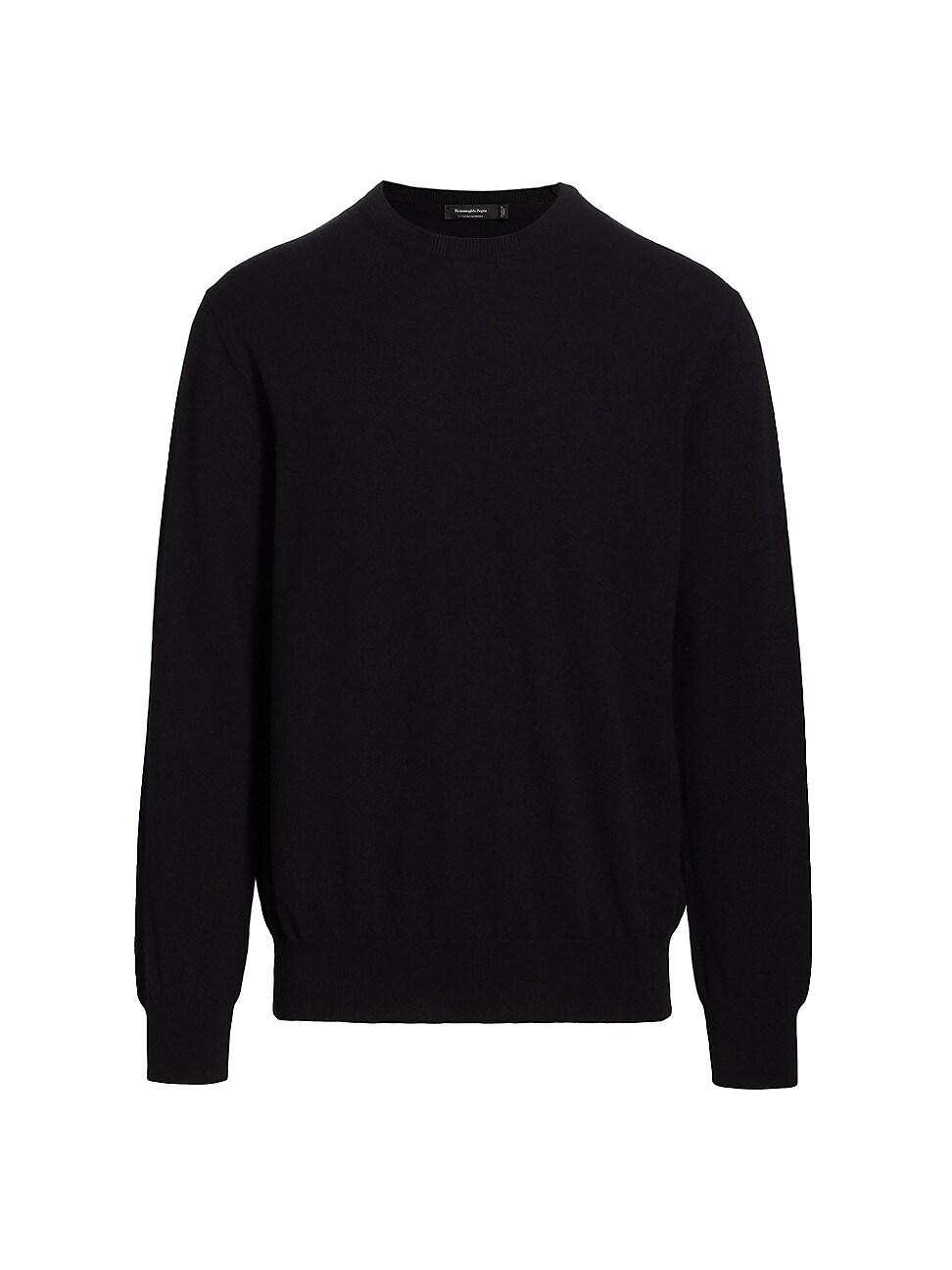 Ermenegildo Zegna Cashmere Crewneck Sweater In Black