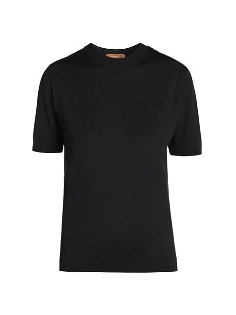 Wool & Silk Crewneck T-Shirt