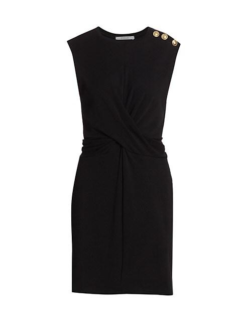 Pierce Twist Knit Sheath Dress