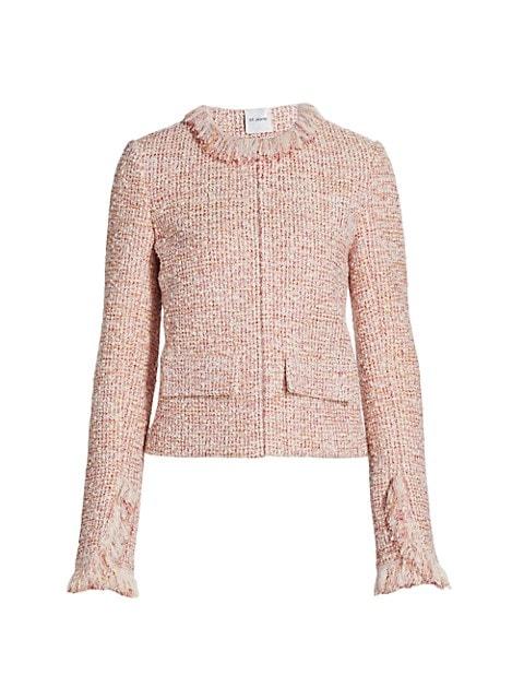 Slub-Knit Fringed Bouclé Jacket