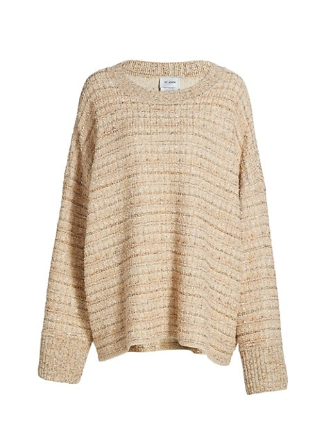Space-Dyed Tweed Sweater