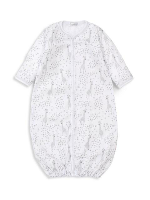 Baby's Speckled Giraffes Print Converter Gown