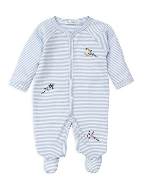 Baby Boy's Just Plane Fun Striped Footie