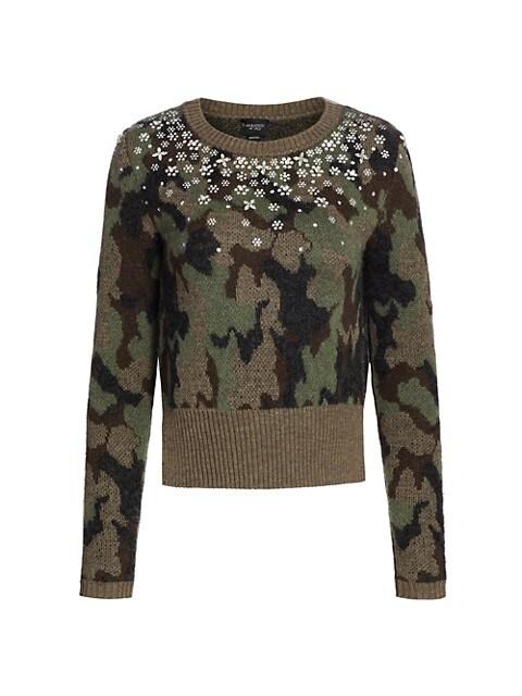 Embellished Camo Sweater
