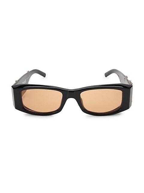 18MM Rectangle Logo Sunglasses