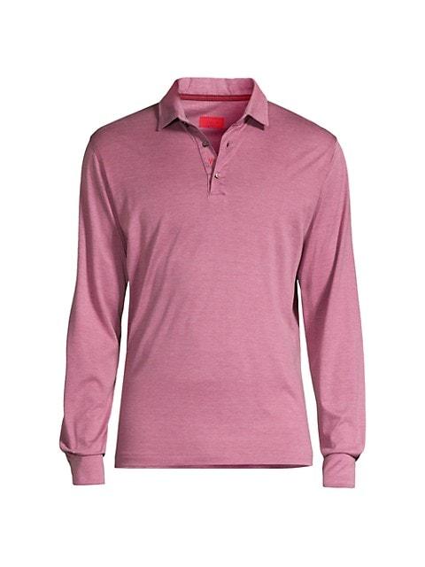 Pink Silk-Blend Polo