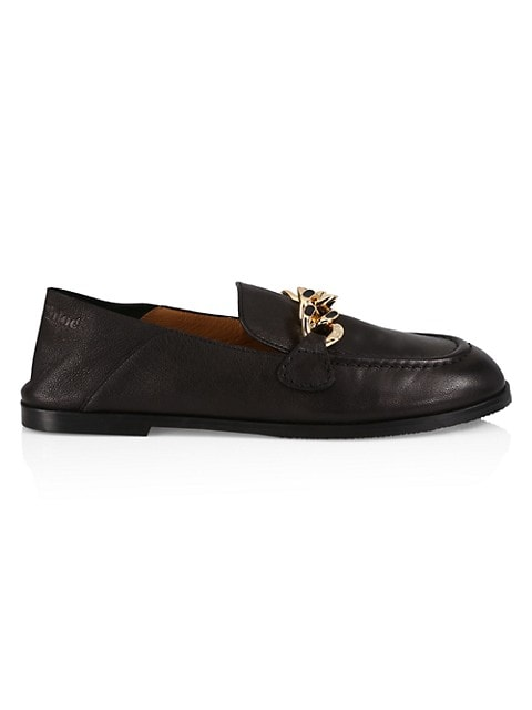 Mahe Chain Leather Loafers