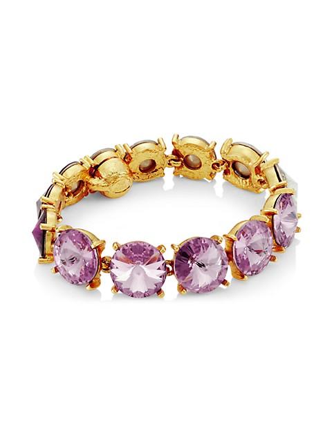 Goldtone & Swarovski Crystal Bracelet