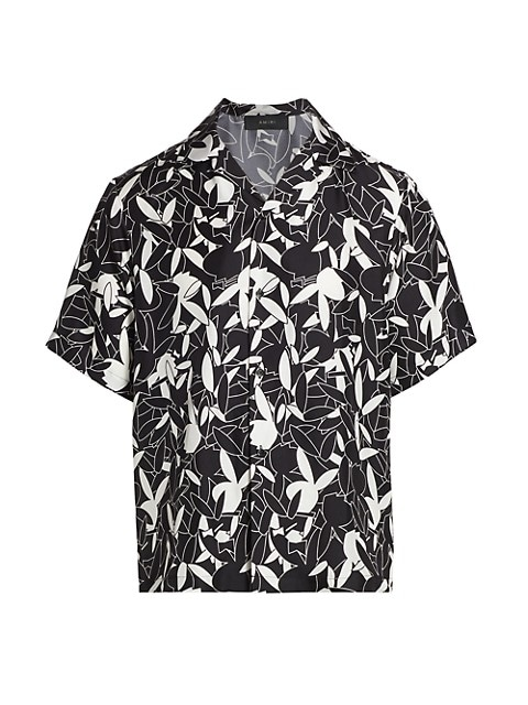 Playboy-Print Silk Shirt