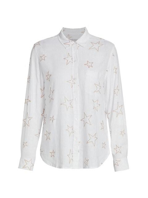 Charli Star-Print Long-Sleeve Shirt
