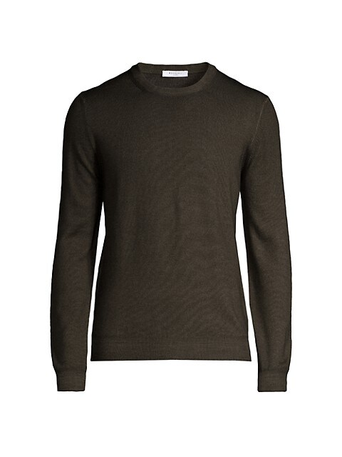 Wool Knit Crewneck Sweater