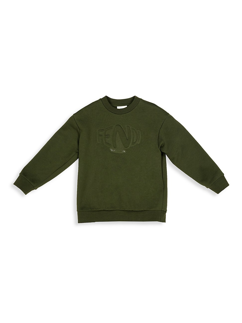 Fendi Little Kid's & Kid's Logo Embossed Sweatshirt In Green
