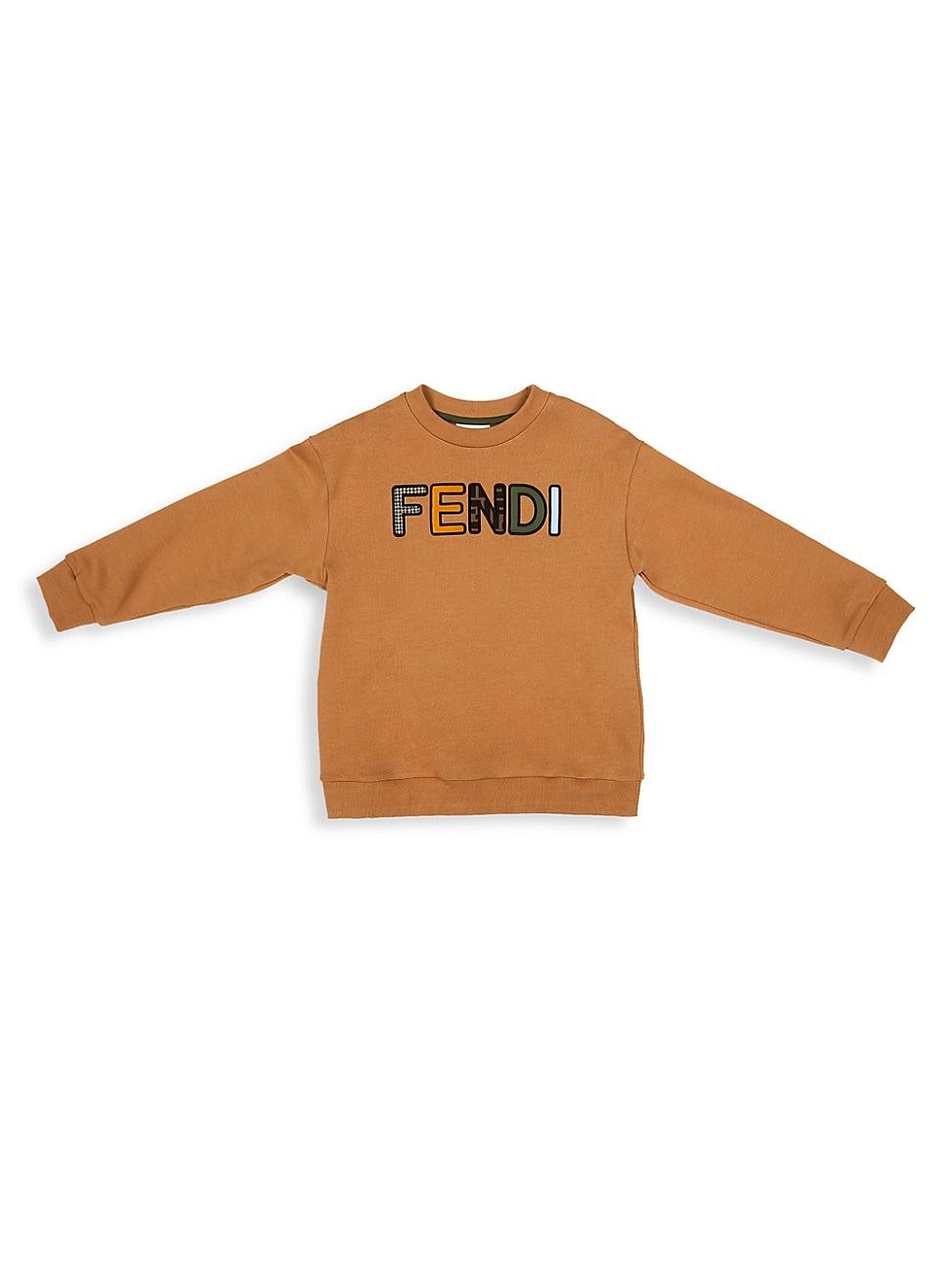 Fendi Little Kids & Kids Logo Sweatshirt In Camel
