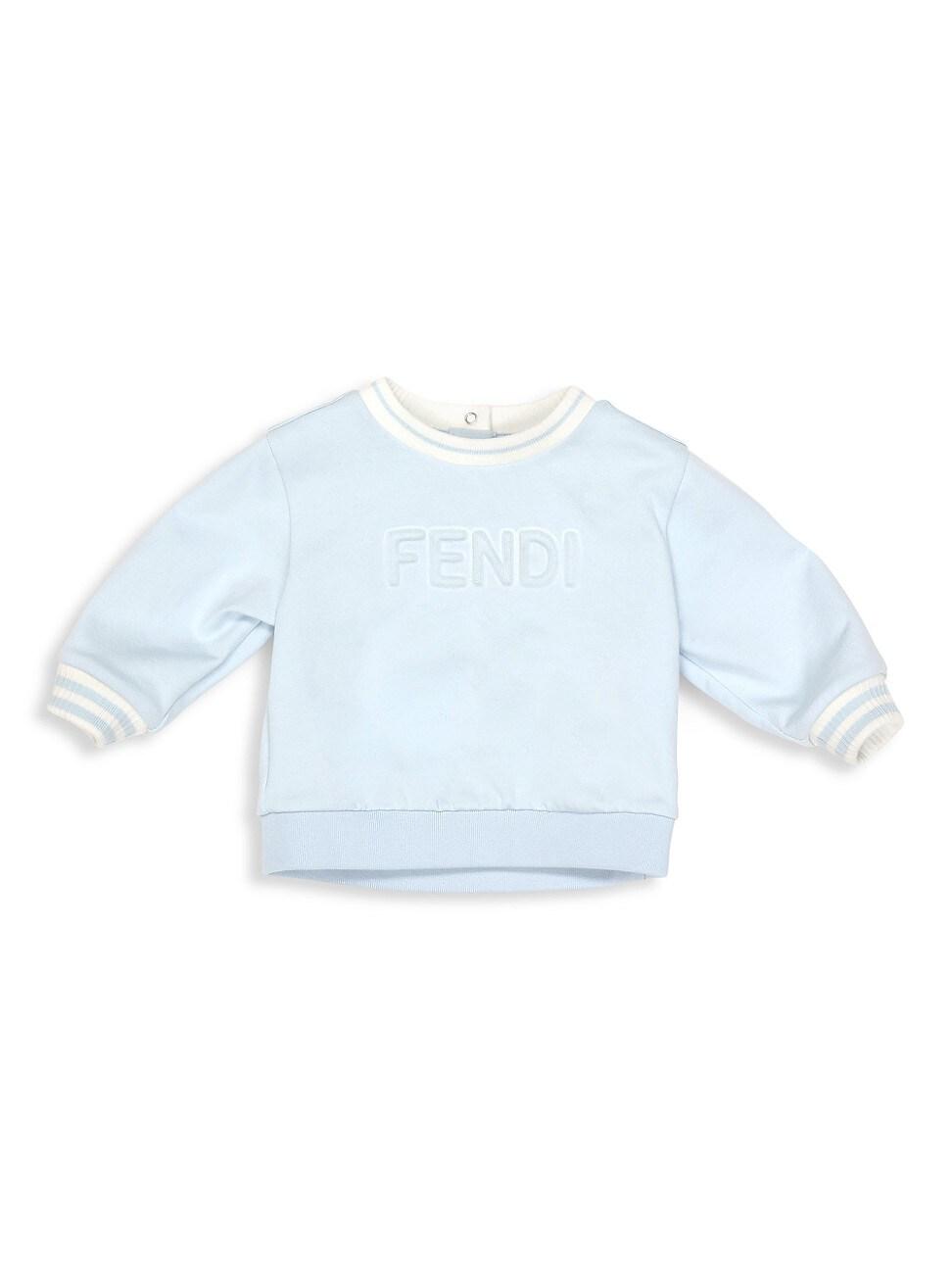 Fendi Baby Boy's Logo Sweatshirt In Blue