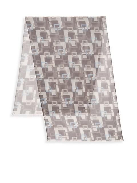 Wool & Cashmere Geometric Scarf