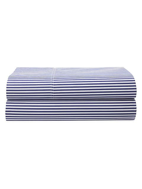 Organic Shirting Stripe Bedding 400 Thread Count Fitted Sheet