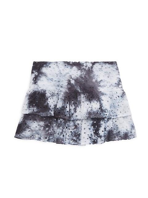 Girl's Lily Tie-Dye Eyelet Skirt