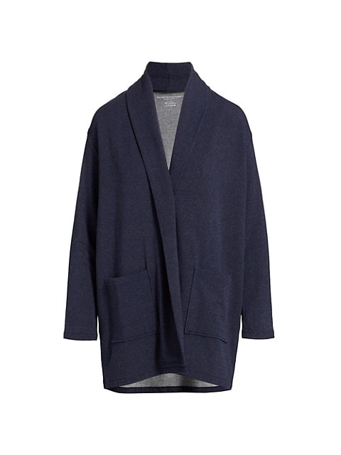 Double-Faced French Terry Cardigan