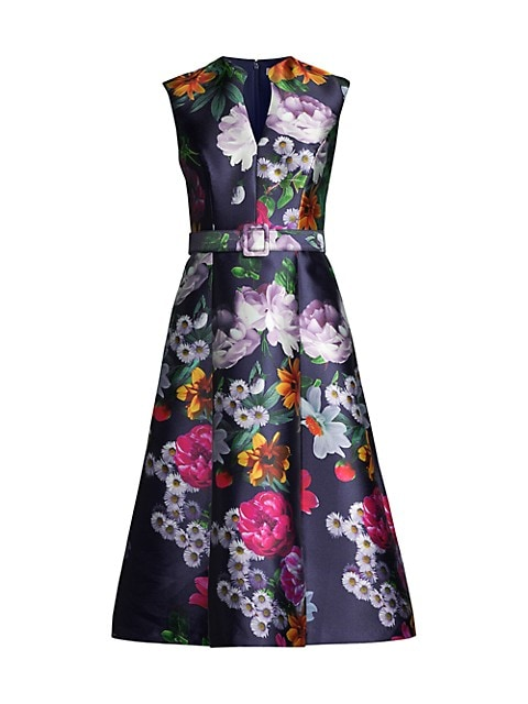 Printed Mikado Easton Tea Dress
