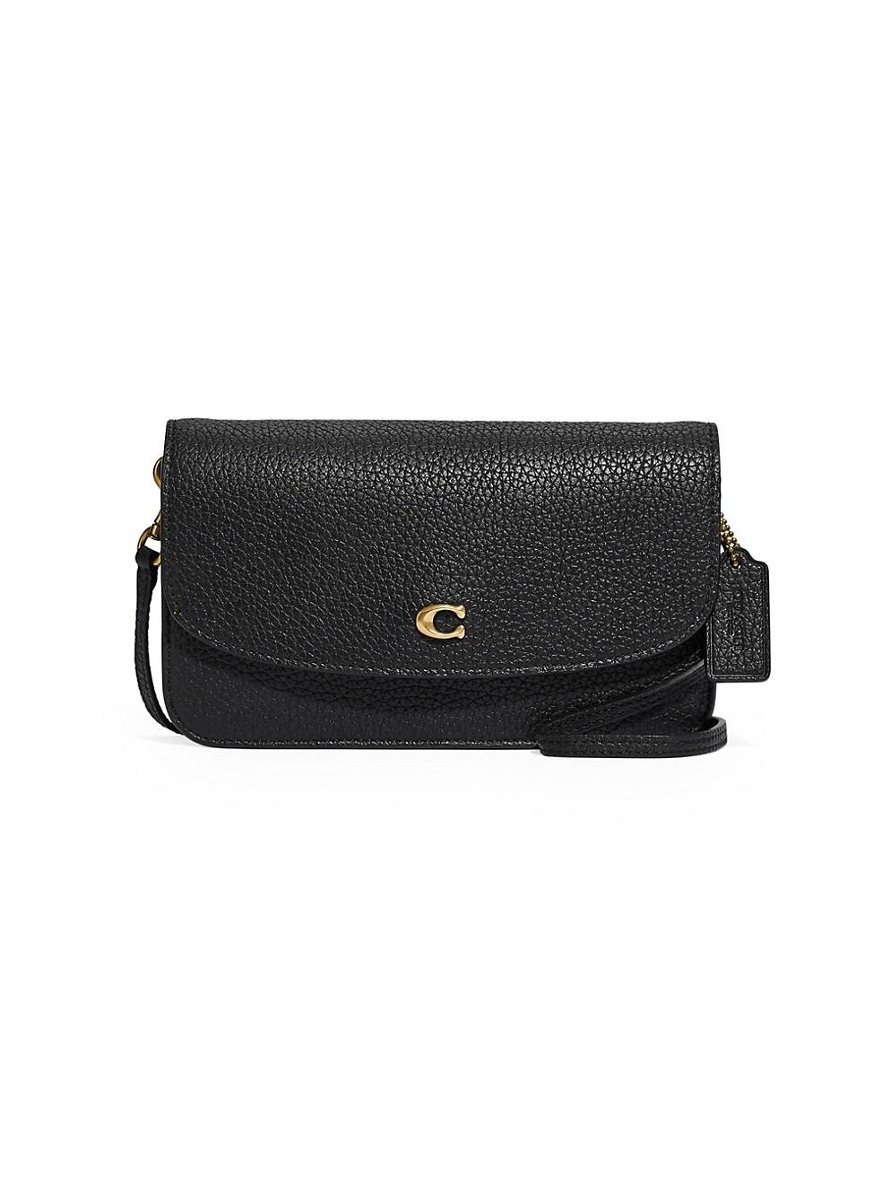 코치 크로스바디백 COACH Hayden Leather Crossbody Bag,BLACK