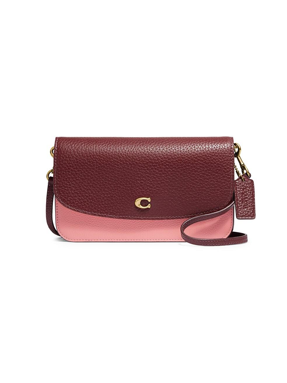 코치 크로스바디백 COACH Hayden Leather Colorblock Crossbody Bag,CANDY PINK