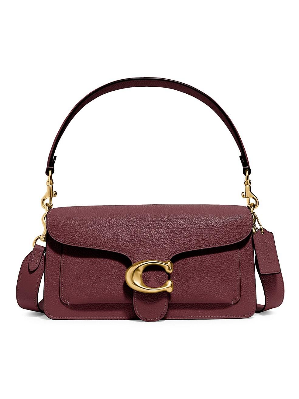코치 숄더백 COACH Tabby 26 Leather Shoulder Bag,WINE