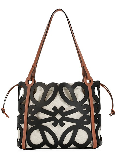Anagram Cutout Leather Tote