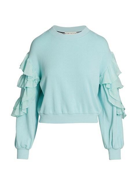 Evalyn Ruffle Sleeve Sweatshirt