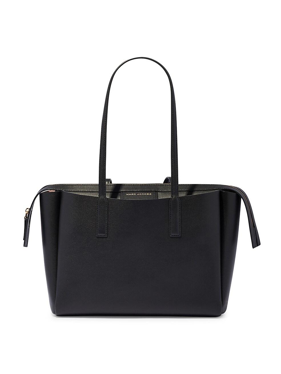 마크 제이콥스 토트백 Marc Jacobs Leather Tote,BLACK