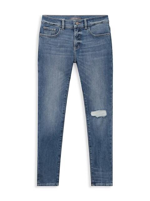 Boy's Zane Distressed Skinny Jeans