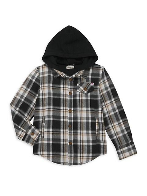 Little Boy's & Boy's Glen Hooded Shirt
