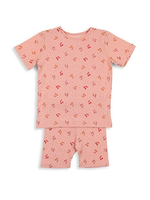 Baby Girl's & Little Girl's 2-Piece Cherries Shorts Set