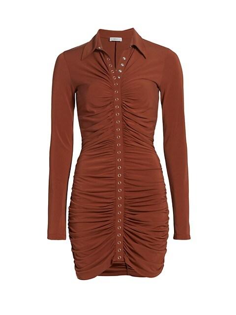 Larsen Ruched Jersey Mini Dress