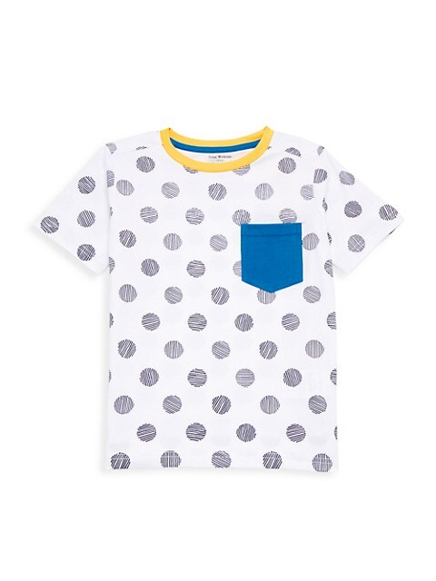Little Boy's & Boy's Polka Dot Print T-Shirt