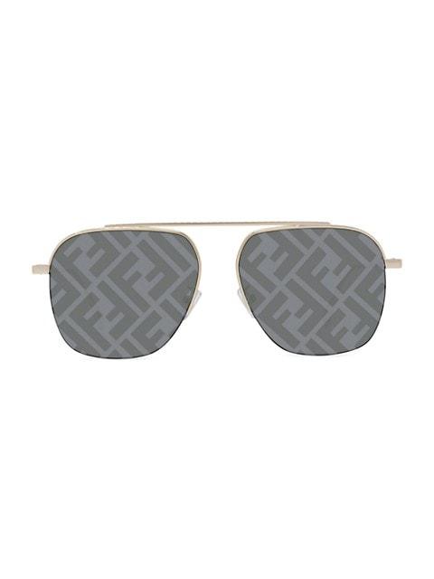 57MM Logo Pilot Sunglasses