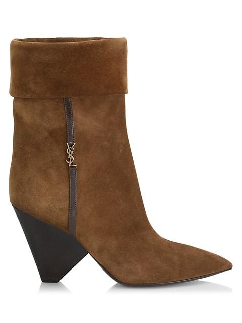 Liz 85MM Suede Mid-Calf Boots