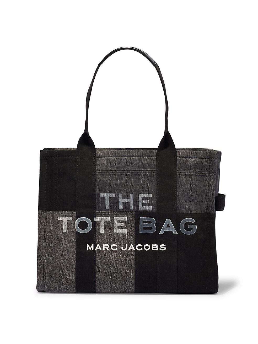 마크 제이콥스 토트백 Marc Jacobs Denim Traveler Tote,BLACK DENIM