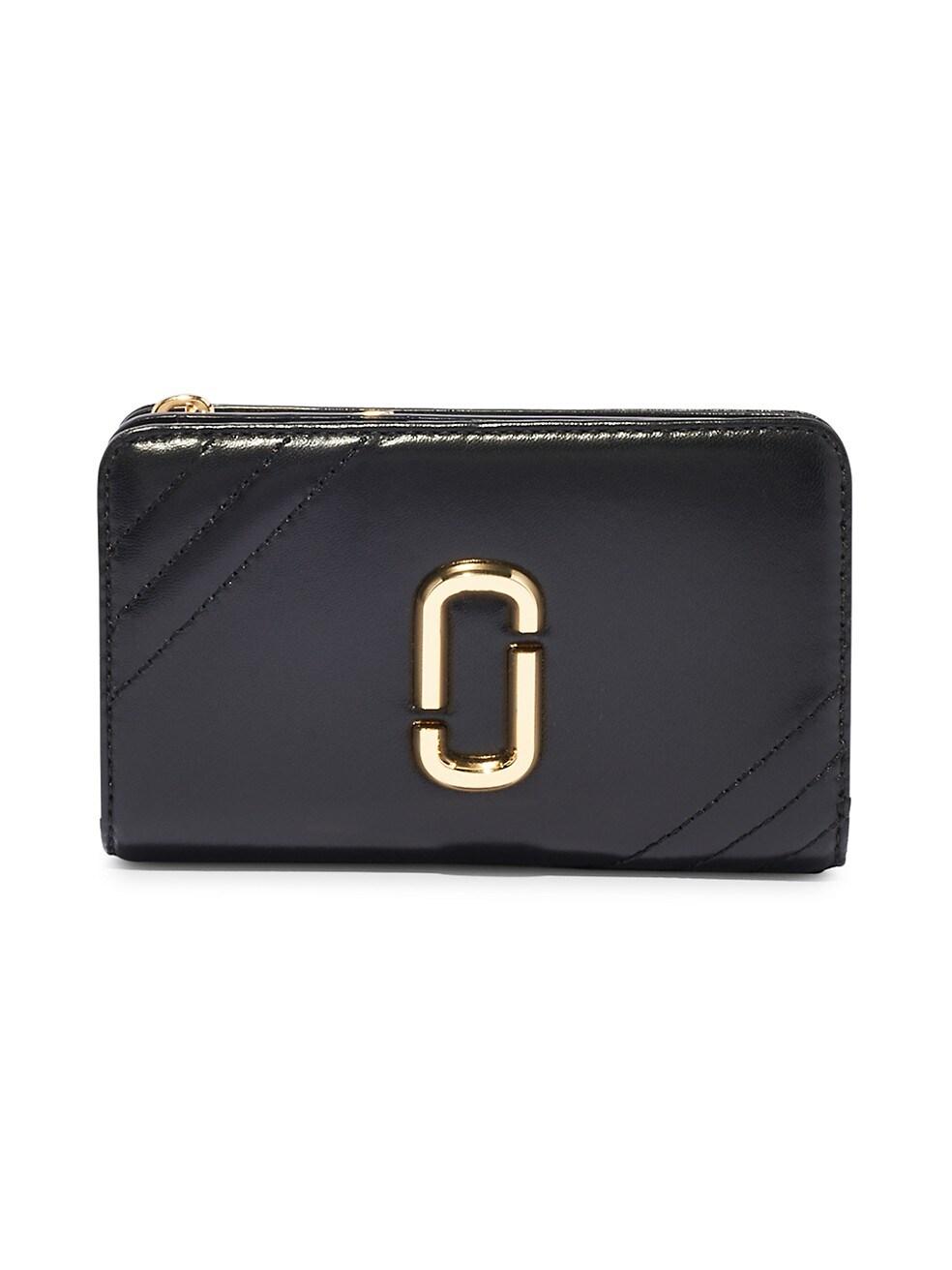 마크 제이콥스 지갑 Marc Jacobs Snapshot Leather Compact Wallet,BLACK