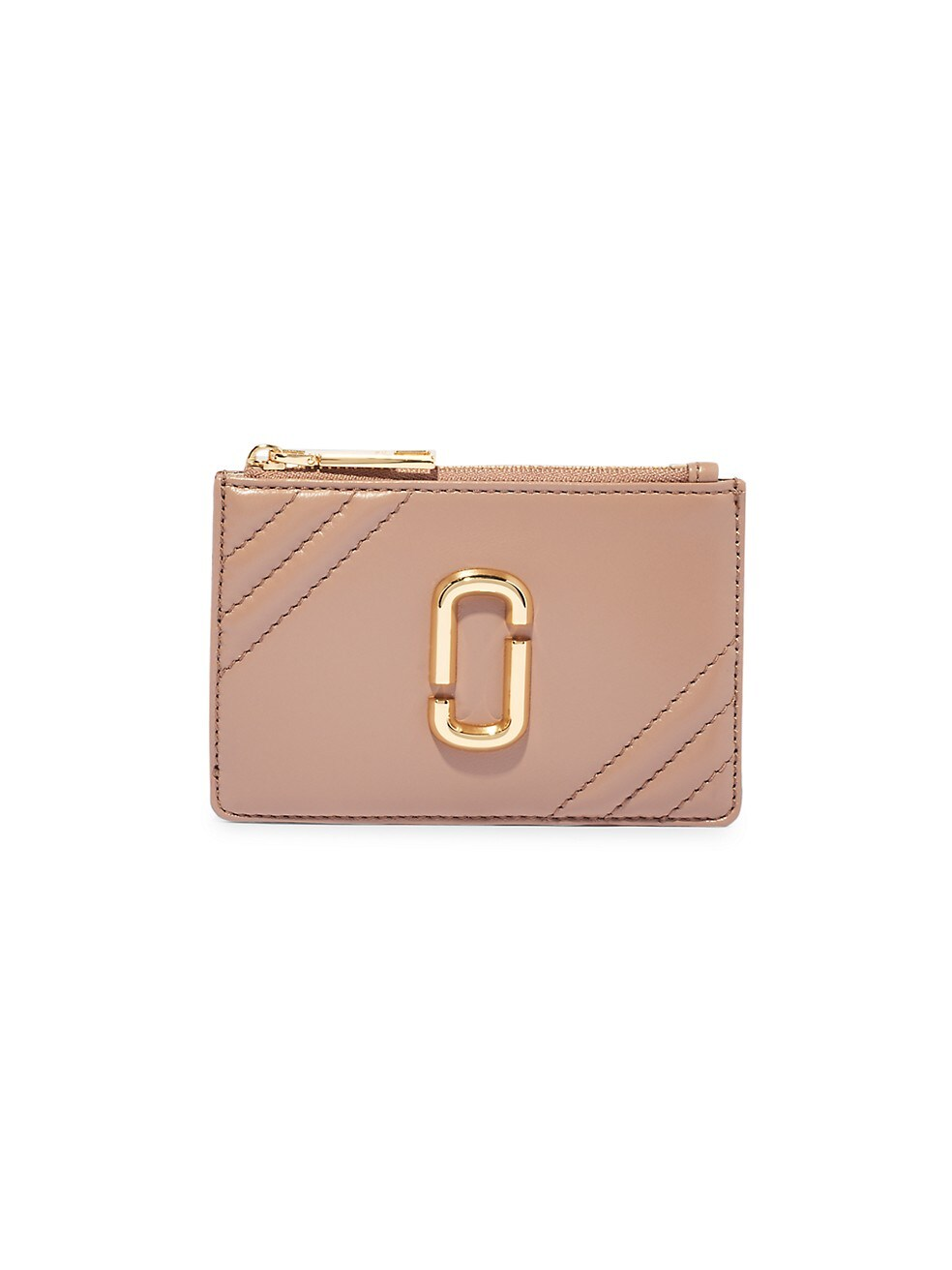 마크 제이콥스 지갑 Marc Jacobs Snapshot Leather Top-Zip Multi Wallet,DUSTY BEIGE
