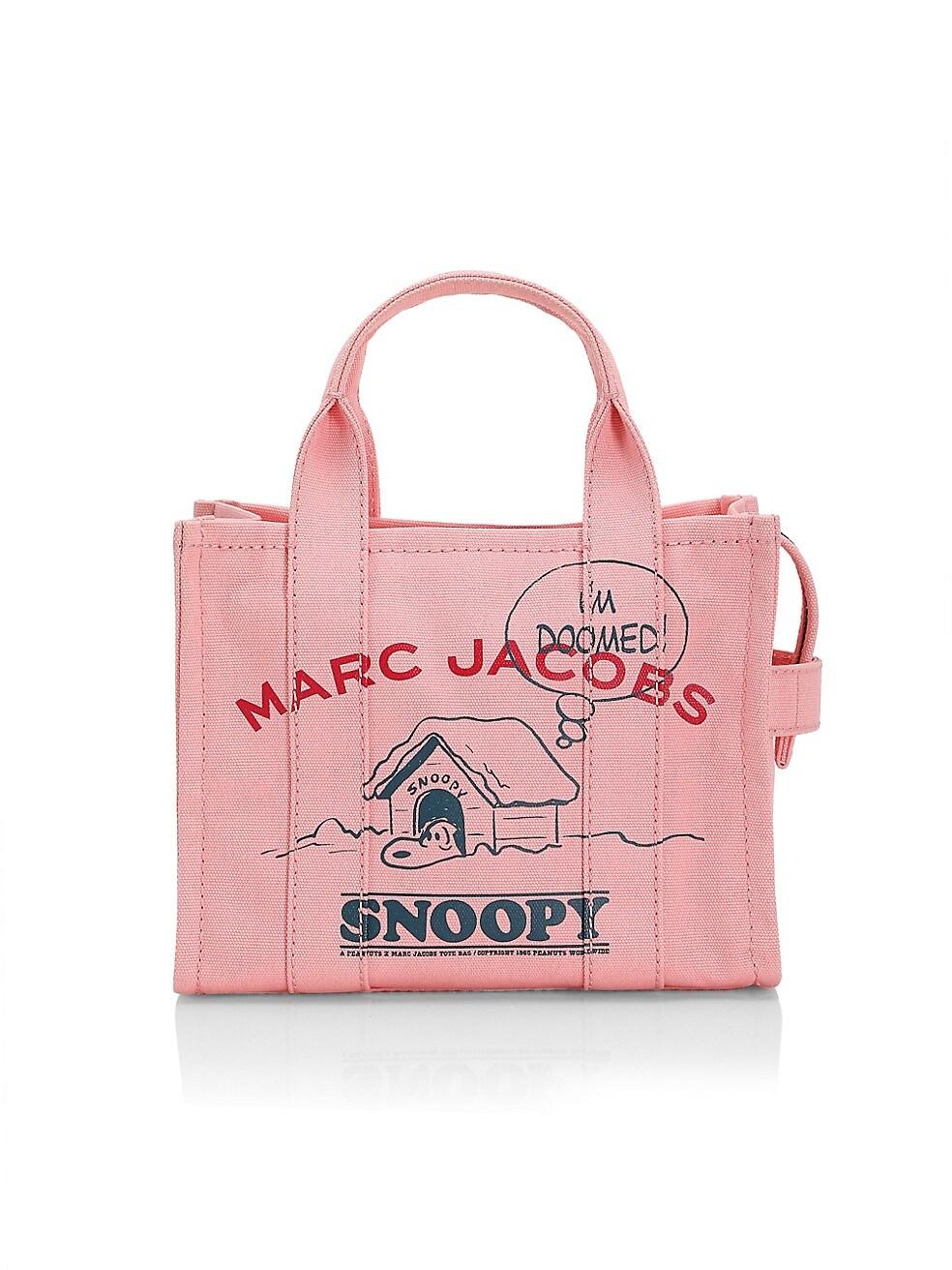 마크 제이콥스 X 피너츠 스누피 토트백 Peanuts x Marc Jacobs Mini The Snoopy Traveler Tote,PINK