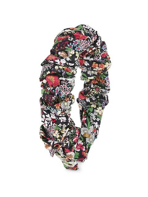 Girl's Floral-Print Embellished Headband